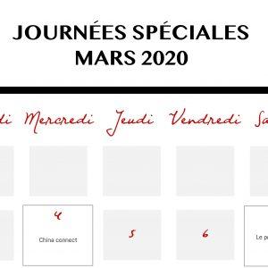 Calendrier Des événements En Mars 2020