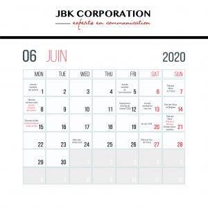 Calendrier Des événements En Juin 2020