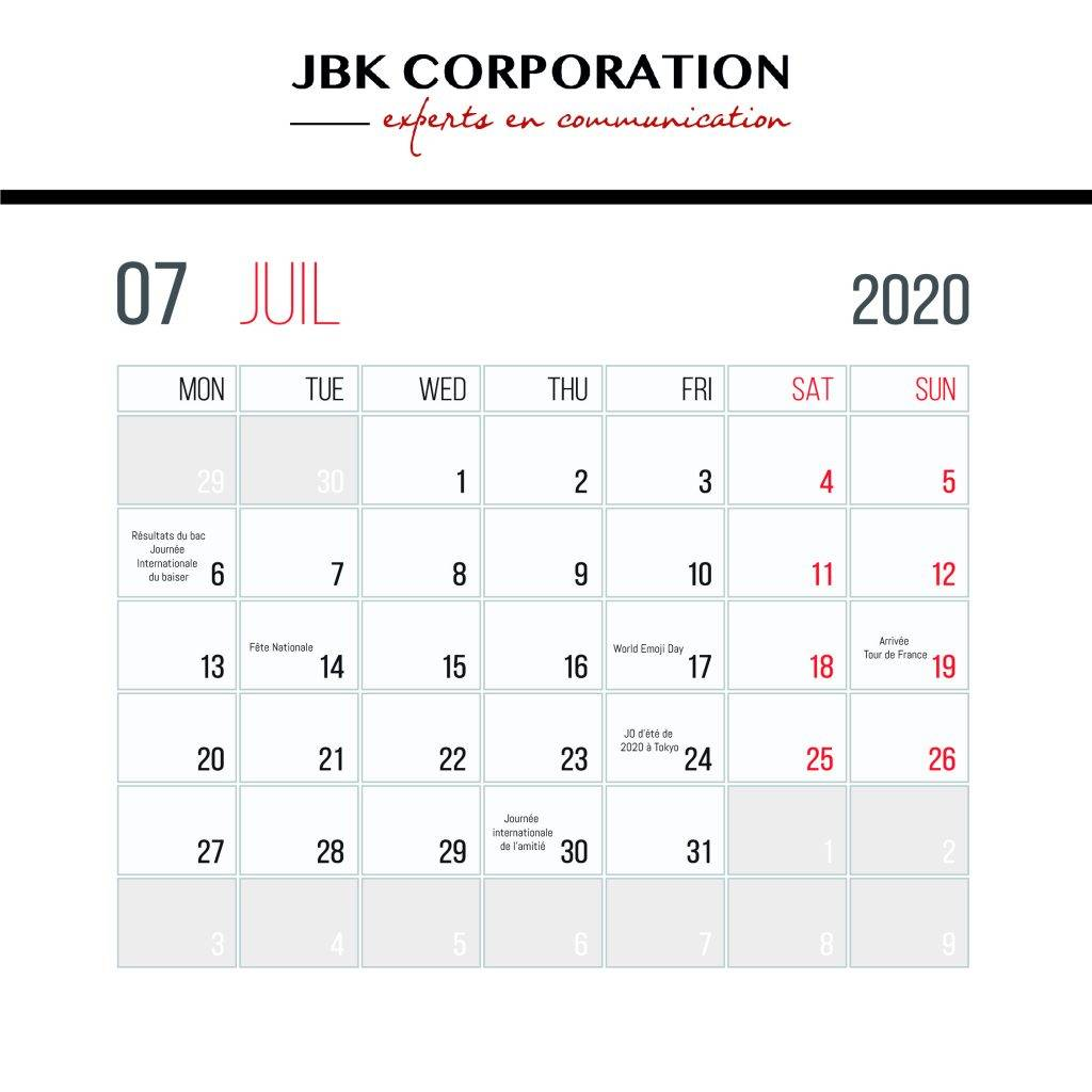 calendrier marronniers 2020