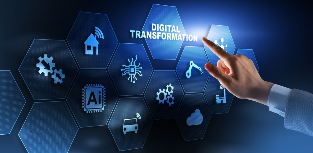 digital,transformation,and,digitalization,technology,concept,on,abstract,background.